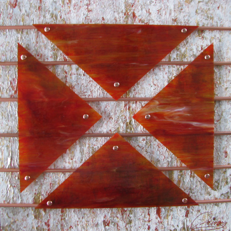 Kyle Rainey   X Treme Measures 24x24 Acrylic Copper Tubing Stained Glass